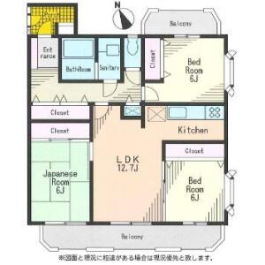 3LDK Mansion in Yoga - Setagaya-ku Floorplan
