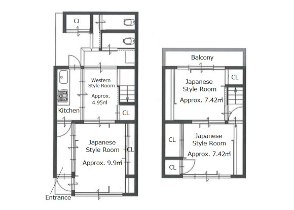 4K House to Buy in Kyoto-shi Higashiyama-ku Floorplan