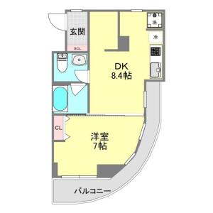 1LDK Mansion in Udagawacho - Shibuya-ku Floorplan