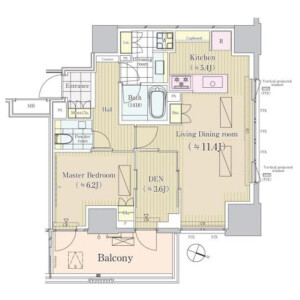 1SLDK Mansion in Sambancho - Chiyoda-ku Floorplan
