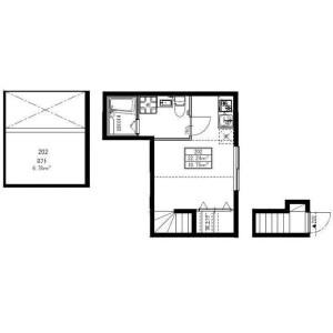 1R Apartment in Komaba - Meguro-ku Floorplan