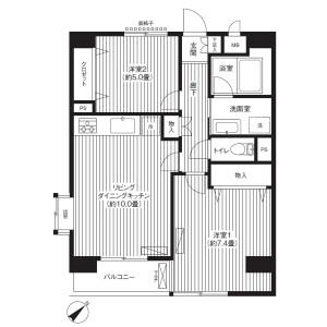 2LDK Mansion in Higashikanagawa - Yokohama-shi Kanagawa-ku Floorplan