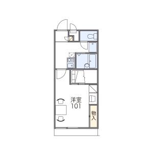 1K Apartment in Sakaedani - Wakayama-shi Floorplan