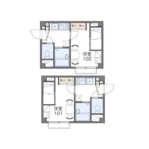 1K Apartment in Sakuradai - Nerima-ku Floorplan