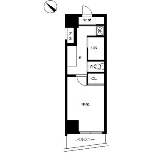 1K Mansion in Iidabashi - Chiyoda-ku Floorplan