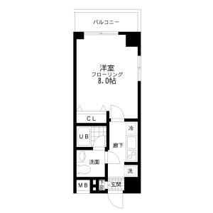 1K Mansion in Sakurajosui - Setagaya-ku Floorplan