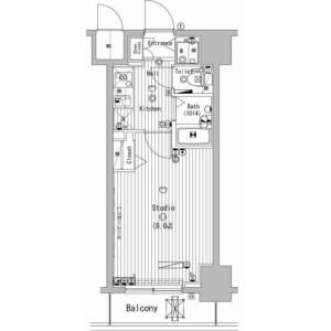 1K Mansion in Manseicho - Yokohama-shi Minami-ku Floorplan