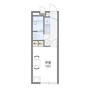 横濱市鶴見區下野谷町-1K公寓大廈 房間格局