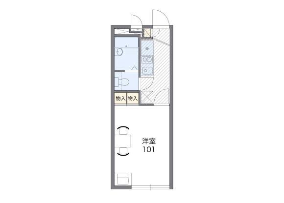 1K Apartment to Rent in Yokohama-shi Tsurumi-ku Floorplan