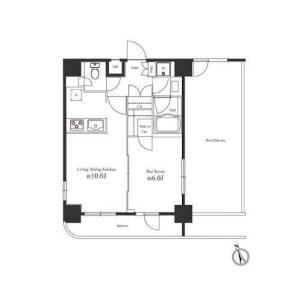 涩谷区道玄坂-1LDK公寓大厦 楼层布局