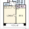 1LDK マンション 名古屋市中区 内装