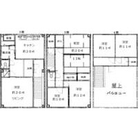5LDK Mansion in Sunjiyata - Osaka-shi Higashisumiyoshi-ku Floorplan