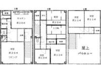 5LDK House to Rent in Osaka-shi Higashisumiyoshi-ku Floorplan