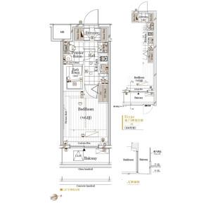 澀谷區代々木-1K公寓 房間格局