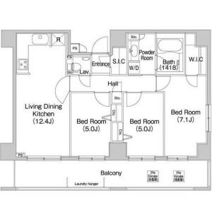3SLDK Mansion in Shibaura(2-4-chome) - Minato-ku Floorplan
