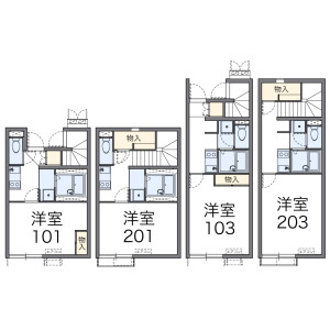 1K Apartment in Yaho - Kunitachi-shi Floorplan