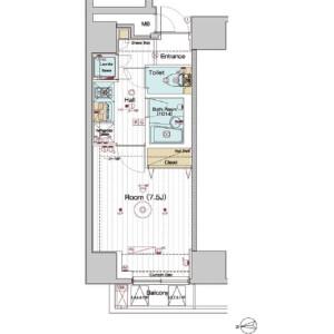 1K Mansion in Misakicho - Hachioji-shi Floorplan