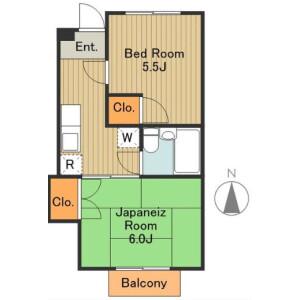 2K Mansion in Nishishinagawa - Shinagawa-ku Floorplan