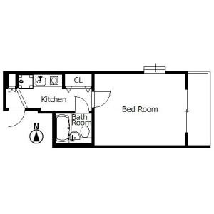 1K Mansion in Reisencho - Kyoto-shi Nakagyo-ku Floorplan