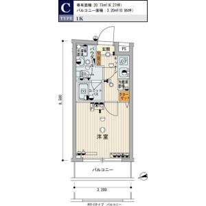 1K Mansion in Nijikkimachi - Shinjuku-ku Floorplan