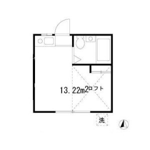 1R Apartment in Koenjiminami - Suginami-ku Floorplan