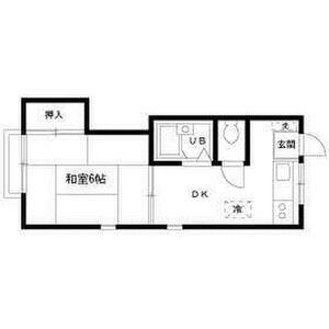 1DK Apartment in Rinkan - Yamato-shi Floorplan