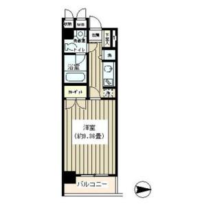 涩谷区神山町-1K公寓大厦 楼层布局