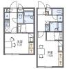 在千葉市中央區內租賃1K 公寓大廈 的房產 房間格局