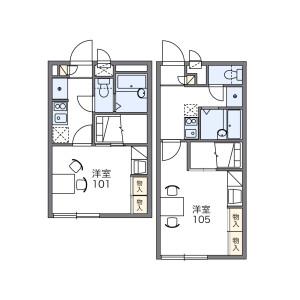 千葉市中央區椿森-1K公寓大廈 房間格局