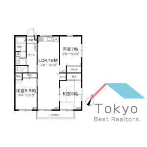 3LDK Mansion in Higashinakano - Nakano-ku Floorplan