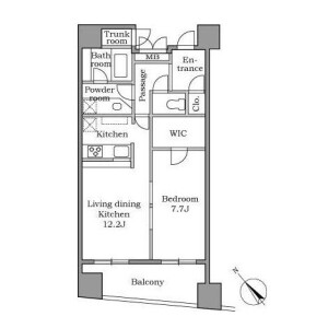 1LDK Mansion in Ebisunishi - Shibuya-ku Floorplan