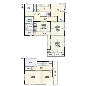 7SDK House in Kogandori - Suwa-shi Floorplan