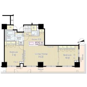 2LDK Mansion in Jinnan - Shibuya-ku Floorplan