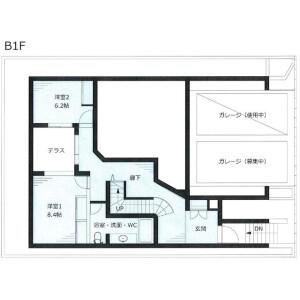 渋谷区 富ヶ谷 3LDK テラスハウス 間取り