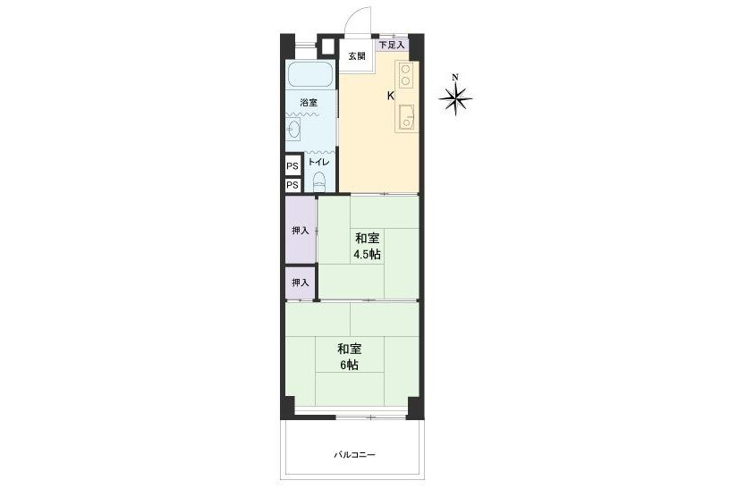 2K Apartment to Buy in Nakano-ku Floorplan