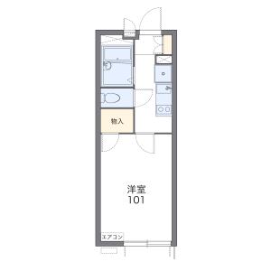 1K Mansion in Nishikawaguchi - Kawaguchi-shi Floorplan