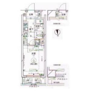 文京区湯島-1K公寓大厦 楼层布局