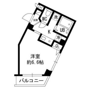 世田谷区新町-1K公寓大厦 楼层布局