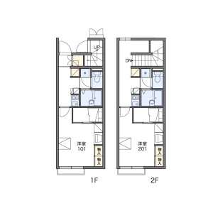 調布市上石原-1K公寓 房間格局