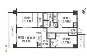 3LDK Mansion in Kamata - Setagaya-ku