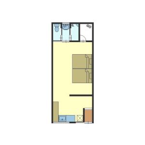 1K {building type} in Izumicho - Kyoto-shi Shimogyo-ku Floorplan