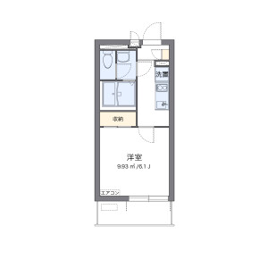 1K Mansion in Kamitoda - Toda-shi Floorplan