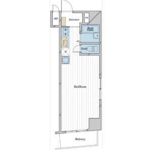 1R {building type} in Matsugaya - Taito-ku Floorplan