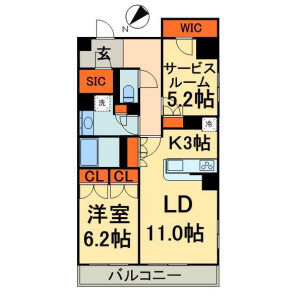 1SLDK Mansion in Nihombashibakurocho - Chuo-ku Floorplan