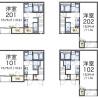 1K Apartment to Rent in Kasuga-shi Floorplan