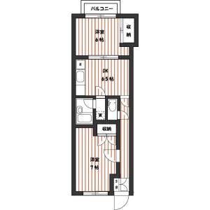 2DK Mansion in Nogata - Nakano-ku Floorplan