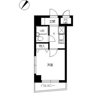 1K Mansion in Tamagawadai - Setagaya-ku Floorplan