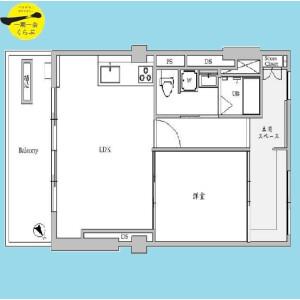 目黒区三田-1LDK{building type} 楼层布局