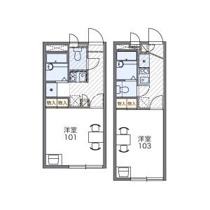 1K Apartment in Kasukabehigashi - Kasukabe-shi Floorplan