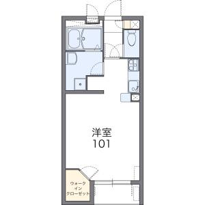 1K Apartment in Oyahongo - Ageo-shi Floorplan